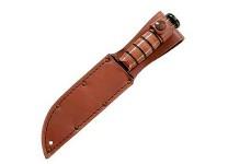 KA-BAR Knives Plain Leather Sheath Fits Full Size KA-BAR
